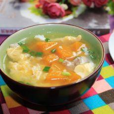 肉末南瓜蛋花汤的做法