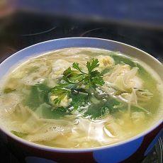 金针菇香菜蛋花汤