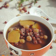 红豆鹰嘴豆红薯汤