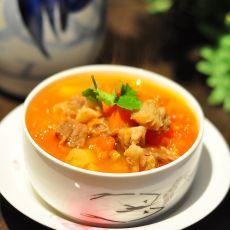 番茄胡萝卜牛腩汤