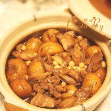 鸡头米栗子鸡煲的做法