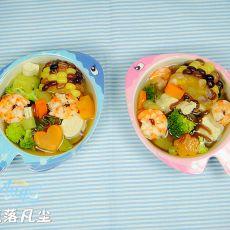小鱼塘海鲜蔬菜汤