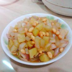 葱香花生炒土豆萝卜丁