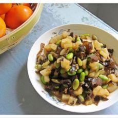 萝卜毛豆炒木耳