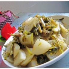 咸菜炒萝卜的做法