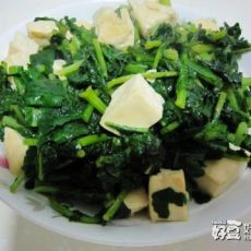 萝卜缨炖豆腐