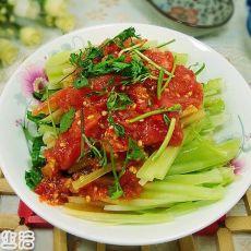 番茄拌莴笋