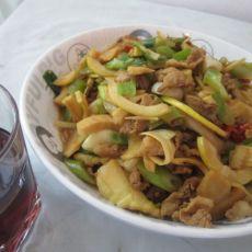 毛竹笋炒肉的做法