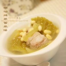 潮汕咸菜苦瓜汤的做法