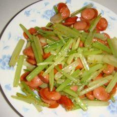 火腿炒芹菜的做法