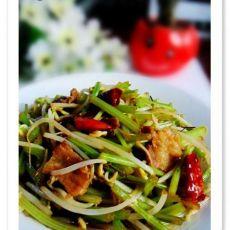 猪肉芹菜炒豆芽