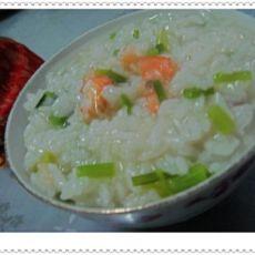 芹菜鲜虾粥的做法