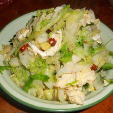 鸡蛋洋白菜的做法