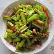 肉丝西红柿炒芹菜的做法