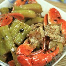 螃蟹两吃之苦瓜焖蟹