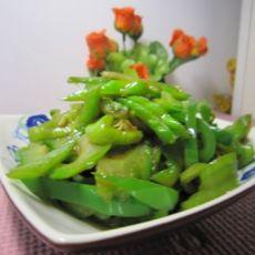 青椒炒苦瓜