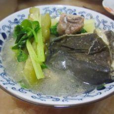 马铃署苦瓜鱼头汤