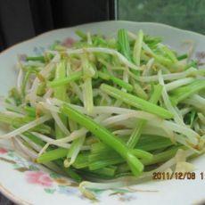 豆芽炒芹菜
