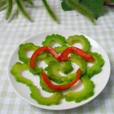 苦中做乐---苦瓜拌红椒