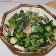 大蒜芹菜炒猪肉