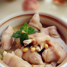 黄豆煲猪脚的做法