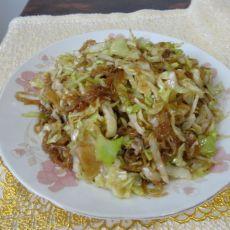 洋白菜炒粉的做法