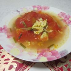 番茄榨菜蛋汤的做法