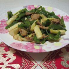 杂椒茭白肉丝