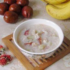 红巧梅花核桃糯米粥的做法