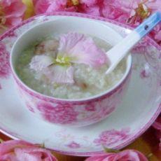 木芙蓉花糯米粥的做法