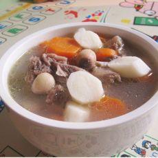 淮山鲜莲子煲鸭汤