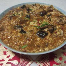 麻婆菌菇豆腐