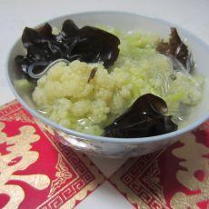 花菜木耳粉丝汤