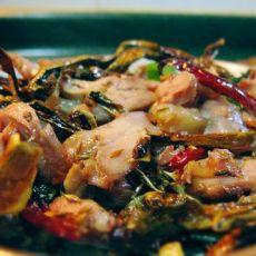 辣椒干炒卤羊肉