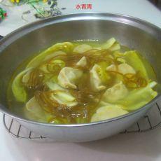 白菜南粉煮饺子的做法