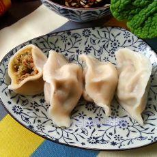 龙豆角平菇馅饺子