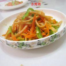 青椒鱿鱼胡萝卜丝