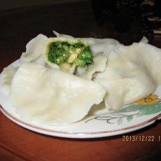 油麦菜鸡蛋饺子