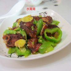 青椒腊鱼排