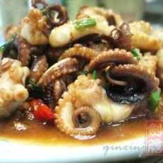 沙姜爆章鱼的做法