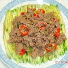青瓜爆牛肉