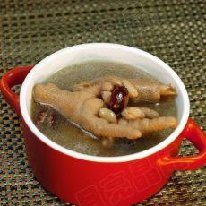 红枣花生煲鸡爪