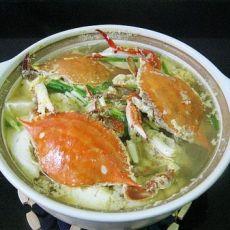 梭子蟹嫩豆腐煲