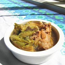 霸王花陈皮煲鳄鱼骨汤