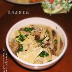 茶树菇豆腐皮汤