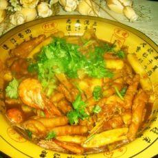 鸡脚明虾煲