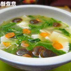 青菜香菇魔芋汤的做法