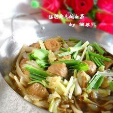 锅仔汤粉肉丸炖白菜的做法