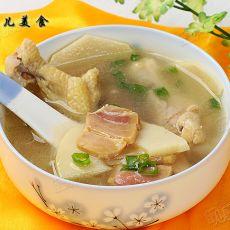 鸡肉竹笋咸肉汤的做法
