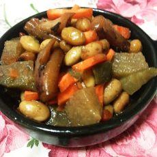 大豆炖萝卜的做法